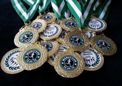 Medaljer med stickers